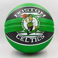 Мяч баскетбольный резиновый №7 SPALDING NBA Team BOSTON CELTIC, фото 1