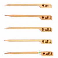 Шпажки уровня прожарки MEDIUM WELL (бамбук) 100 шт