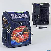 Рюкзак школьный каркасный 1 отделение, 3 кармана, спинка ортопедическая, 3D принт С 36158
