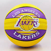 Мяч баскетбольный резиновый №7 SPALDING NBA Team LA LAKERS, фото 1