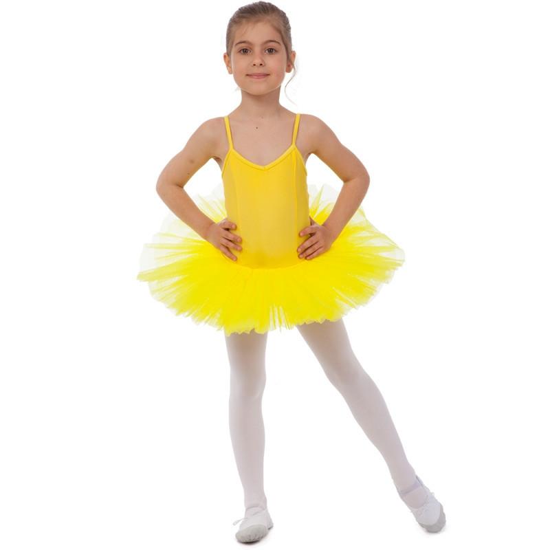 32eecaa7dcdd0 Купальник для танцев с юбкой-пачкой детский (р-р XS-XL, рост 100 ...