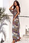 Річний довгий сарафан в смужку на літо, фото 2