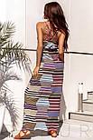 Річний довгий сарафан в смужку на літо, фото 4