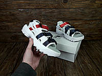 Женские белые сандалии летние ФИЛА люкс копия