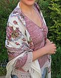 Журавушка 527-1, павлопосадский вовняну хустку з шовковою бахромою, фото 9