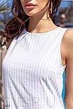 Літня сукня-трапеція в блакитну смужку, фото 2