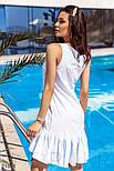 Летнее платье-трапеция в голубую полоску, фото 3