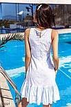 Летнее платье-трапеция в голубую полоску, фото 4