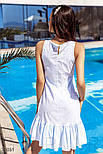 Літня сукня-трапеція в блакитну смужку, фото 4