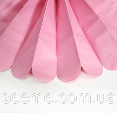 Паперові помпони з тишею «Pink», діаметр 25 див.
