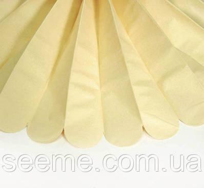 Паперові помпони з тишею «French Vanilla», діаметр 25 див.