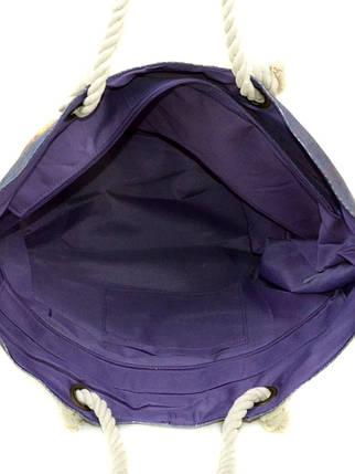 Сумка пляжная текстиль 9140-1 navi, фото 2