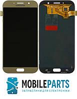 Дисплей для Samsung A7 2017 | A720 с сенсорным стеклом Яркость регулируется (Золотой) TFT подсветка оригинал