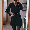 Сукня з поясом, тканина: костюмка армані легка літня. Розмір:С,М. Різні кольори. (6671), фото 4