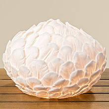 Лампа нічник Перо біла полістоун d28см 1003894