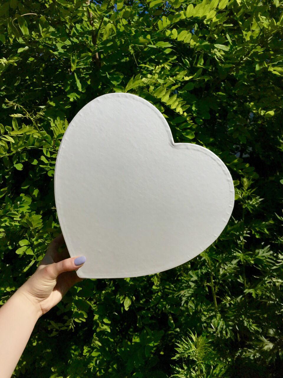 Коробка большое сердце без крышки
