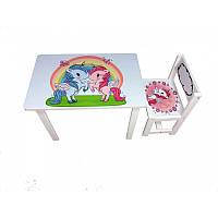 Детский столик со стульчиком «Единороги(unicorns)» BSM1-04