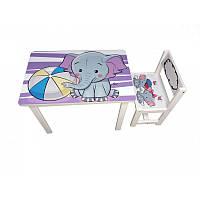 Детский столик состульчиком «Слоник (elephant)» BSM1-05