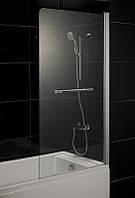 EGER Штора на ванну 80*150, стекло тонированное, правая 599-02R grey