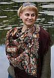Над серебряной водой 734-7, павлопосадский платок шерстяной  с шерстяной бахромой, фото 4