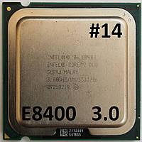 Процессор ЛОТ#14 Intel® Core™2 Duo E8400 SLB9J 3.00GHz 6M Cache 1333 MHz FSB Socket 775 Б/У