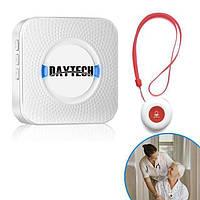 Беспроводная кнопка вызова медсестры для пожилых людей Daytech CC01 до 150 метров, белая