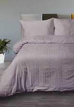Постельное белье Lotus Сатин Страйп лиловое 1*1 полуторный размер (Турция)