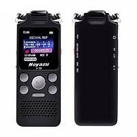 Цифровой диктофон с таймером для записи голоса Noyazu voice recorder V59, стерео, 8 Гб, черный