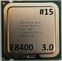 Процессор ЛОТ#15 Intel® Core™2 Duo E8400 SLB9J 3.00GHz 6M Cache 1333 MHz FSB Socket 775 Б/У, фото 1