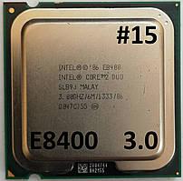 Процессор ЛОТ#15 Intel® Core™2 Duo E8400 SLB9J 3.00GHz 6M Cache 1333 MHz FSB Socket 775 Б/У