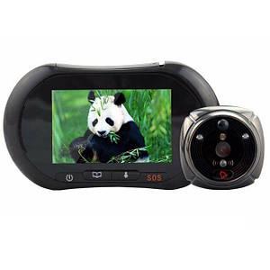 Видеоглазок GSM видеодомофон c датчиком движения и записью iHome2, MMS фото, видеосообщения, SOS, разговор через мобильный