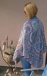 Східне подорож 1566-14, павлопосадский хустку (шаль) бавовняний (саржа) з подрубкой, фото 4