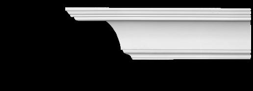 Карниз потолочный гладкий Classic Home 2-1440, лепной декор из полиуретана