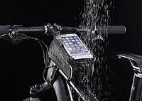 Велосумка на раму (чехол для телефона) RockBros с козырьком от солнца. Original!  017