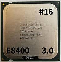 Процессор ЛОТ#16 Intel® Core™2 Duo E8400 SLB9J 3.00GHz 6M Cache 1333 MHz FSB Socket 775 Б/У