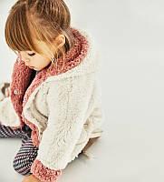 Пальтишко Zara для девочки детское, теплое, меховое, размер 80 возраст 9-12 мес.