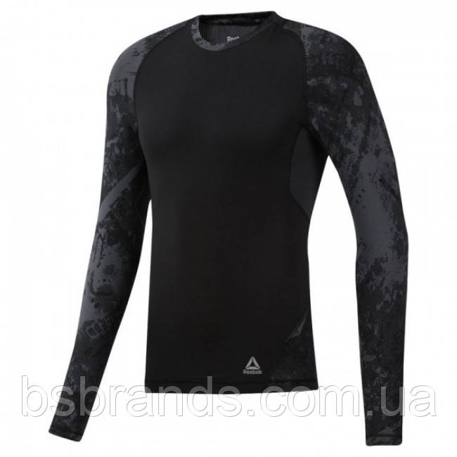 Спортивная футболка с длинным рукавом Reebok COMBAT JACQUARD (АРТИКУЛ: DQ1982 )