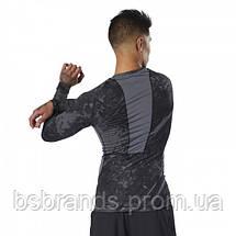 Спортивная футболка с длинным рукавом Reebok COMBAT JACQUARD (АРТИКУЛ: DQ1982 ), фото 2