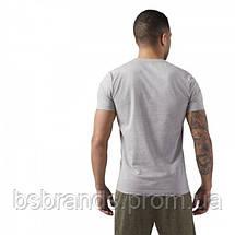 Спортивная мужская футболка Reebok LINEAR READ (АРТИКУЛ: CW5375), фото 2