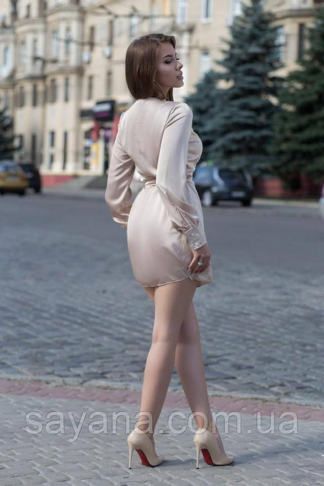 женское платье на запах