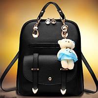 Рюкзак женский с мишкой Тедди и бантиком Наоми, фото 1