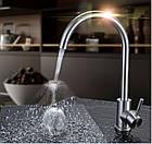 Смеситель для кухни из нержавеющей стали SUS304 цвет матовый Gerts (imperial) 2861, фото 6