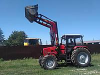 Фронтальний навантажувач на МТЗ 1221 усилений з  паралелограмним механізмом і джойстиком висота 4.2 м, фото 1