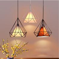 Светильник подвес в стиле скандинавский лофт DIAMOND 7921 (25см) (белый,черный,коричневый)