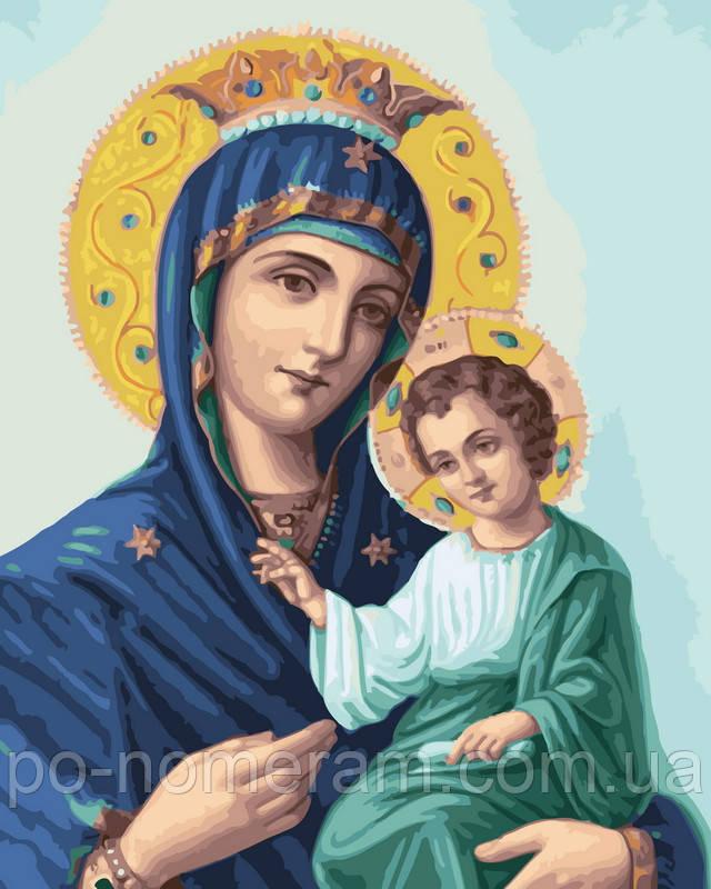 Картина по номерам Иверская божья матерь