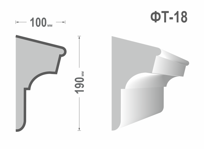 Фасадный молдинг (Тяга) фт-18