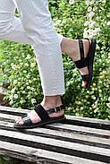 Женские босоножки Atomio Lardini из натуральной кожи черные лакированные, фото 3