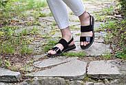 Женские босоножки Atomio Lardini из натуральной кожи черные лакированные, фото 9