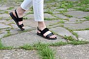 Женские босоножки Atomio Lardini из натуральной кожи черные лакированные, фото 10
