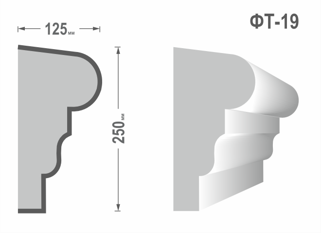 Фасадный молдинг (Тяга) фт-19